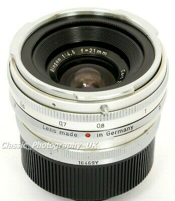 Carl Zeiss BIOGON 1:4.5 f=21mm Contax Rangefinder 21mm Lens Converted to LEICA M