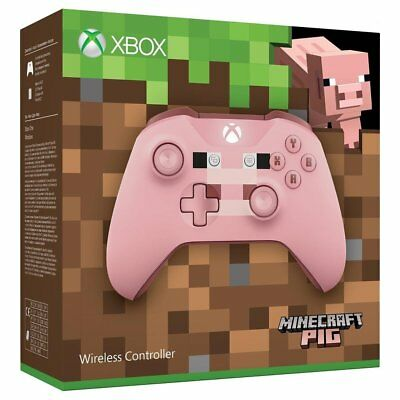 Official Xbox One Wireless Controller Minecraft Pig Edition New Sealed