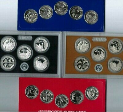 """All """"20"""" x 2018 Quarter Types 5 Silver S Proof 15 Clad With P & D From Mint Set!"""
