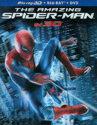 Amazing Spider Man BLU RAY 3D, BLU RAY + DVD NEW! WITH 3D SLIPCOVER! SPIDERMAN