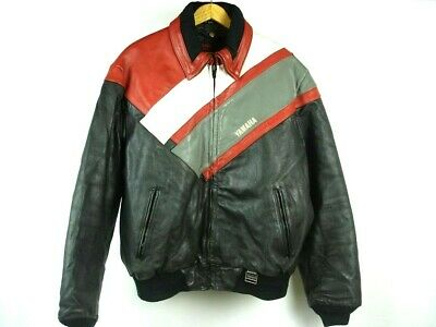 Vintage Hein Gericke YAMAHA Leather Motorcycle Jacket Quilted Lining sz XXL