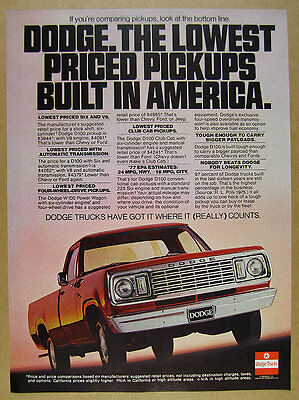 Classic Vintage Advertisement Ad D47 Play 1977 Dodge Truck Series
