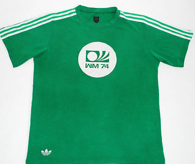 Adidas Originals Retro Vintage West Germany W.c.1974 Football Shirt,Size:large