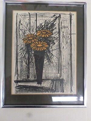 Prime Vintage Lithograph Art Print Bernard Buffet The Black Ships Home Interior And Landscaping Palasignezvosmurscom