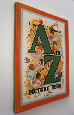 Gyo Fujikawa's A to Z Picture Book 1975 vintage illustrated children's HB book