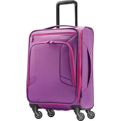 """American Tourister 4 Kix 21"""" Expandable Spinner Softside Carry-On NEW"""