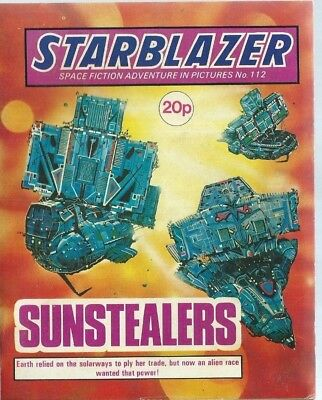 Sunstealers,starblazer Space Fiction Adventure In Pictures,comic,no.112
