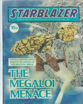 The Megaloi Menace,starblazer Space Fiction Adventure In Pictures,comic,no.94