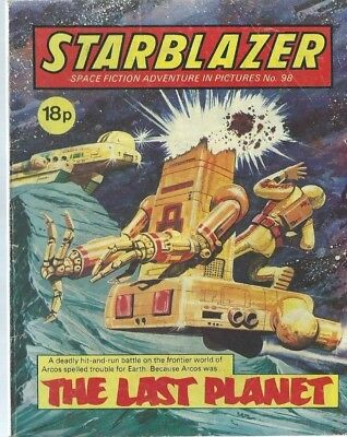 The Last Planet,starblazer Space Fiction Adventure In Pictures,comic,no.98
