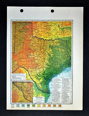c 1925 hammond county map of texas austin houston dallas san antonio galveston 18 00 picclick picclick
