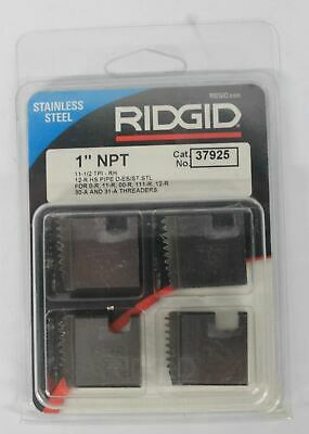 "NEW RIDGID 4 x Stainless Steel 1"" NPT Replacement Pipe Threader Dies 37925"