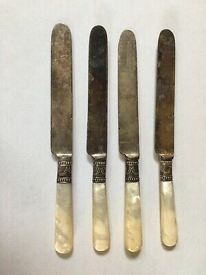 Lot Of Vintage Meridian Cutlery Co. Sterling With Mother Of Pearl Handle Scrap?