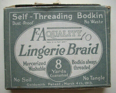 Vintage 1920's 1930's Lingerier Braid with Self-Threading Bodkin
