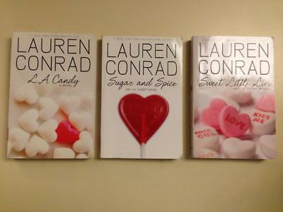 Lot 3 L A Candy Series Lauren Conrad Softcover Sweet Little Lies Sugar and Spice