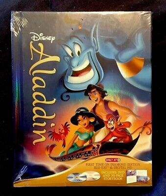 ALADDIN Diamond Edition Blu-ray/Dvd/Dig STORYBOOK DIGIBOOK Target RARE Oop NEW