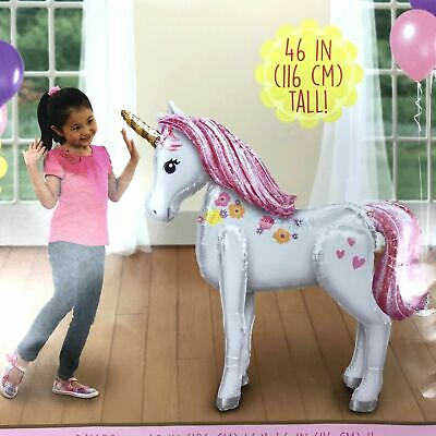 "Unicorn Airwalker Giant Foil Balloon 46/"" Tall ~ Birthday Party Decoration AWK"