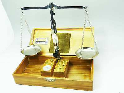 Vintage Clay Adams Co New York beam balance Scale With Weights