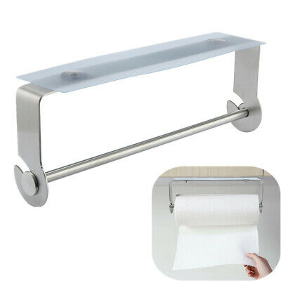 Simple Adhesive Paper Towel Holder Under Cabinet For Bathroom Brushed Stainless