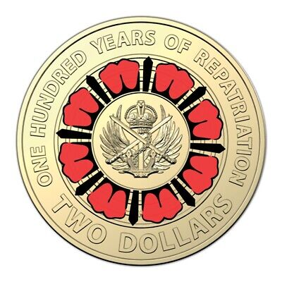 2019 Bring Them Home - 100 Years of Repatriation $2 Coloured Coin