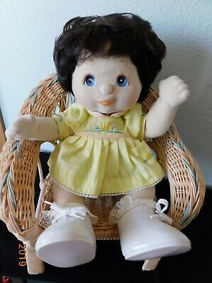 1985 MY CHILD DOLL BRUNET CURLY Hair BLUE eyes All Original..Very Good Condition