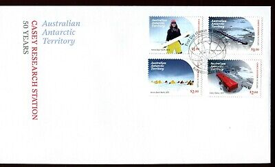 2019 AAT Casey Research Station 50 Years (Gummed Stamps) FDC - Kingston Tas PMK