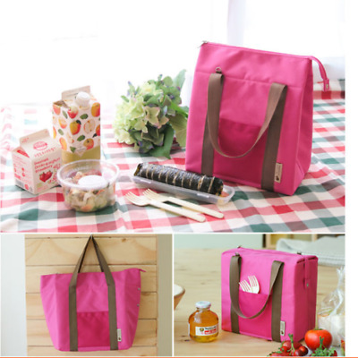 4Colors Insulated Cooler Lunch Picnic Storage Bag Food Storage Tote  Waterproof