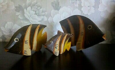 carved wooden fish
