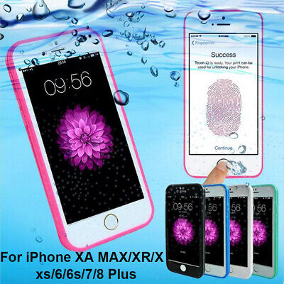 For iPhone 10 X 8 7 Plus 6s 5 Case Cover Waterproof Shockproof Hybrid Rubber TPU