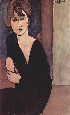 Handmade Oil Painting repro Amedeo Modigliani - Portrait of Madame Reynouard