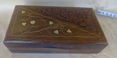 wooden box wood carving handmade wood for decoration