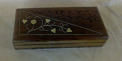 wooden box wood carving handmade for decorations small