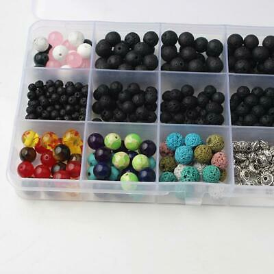 500pcs 4-8mm Round Lava Stone Beads Loose Spacer Natural Gemstone Bracelet