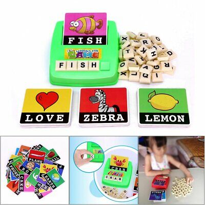 Literacy Scrabbler Early Education Puzzle Toys Gift D5