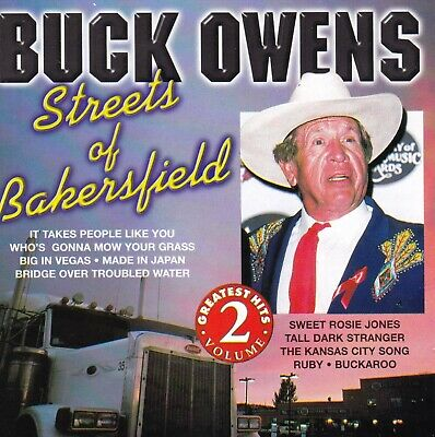 BUCK OWENS Streets Of Bakersfield / Greatest Hits Vol.2 CD  New  SirH70