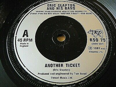 "Eric Clapton & His Band - Another Ticket  7"" Vinyl"