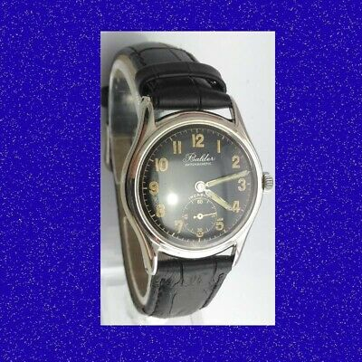 Vintage & Retro WW2 Steel Art Deco Mint Swiss Gents Military Wrist Watch 1945
