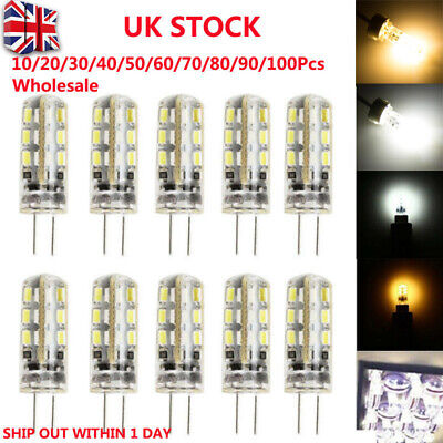 10-100Pcs G4 LED Bulbs Capsule Replace Halogen Bulb DC 12V Light Bulb Lamps UK