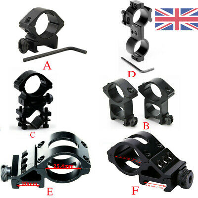 Tactical 25.4mm/30mm Scope Ring Rail QD Quick Release Mount For Airsoft Hunting