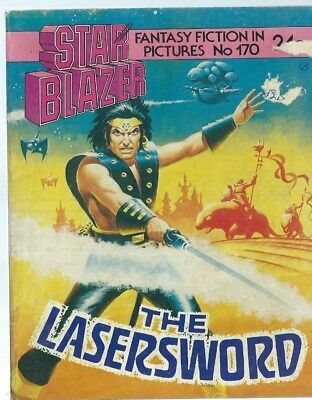 The Lasersword,starblazer Fantasy Fiction Adventure In Pictures,comic,no.170