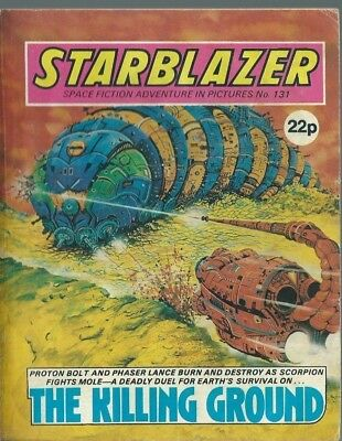 The Killing Ground,starblazer Space Fiction Adventure In Pictures,comic,no.131