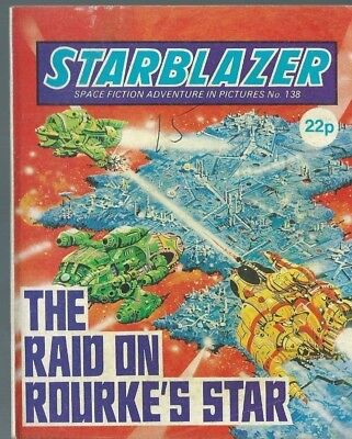 The Raid On Rouke's Star,starblazer Space Fiction Adventure In Pictures,no.138