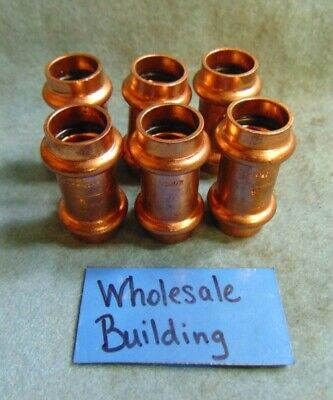 """Nibco Propress Copper Couplings With Stop, 1/2"""" 9001100Pc Epdm O'ring *Lot Of 6*"""