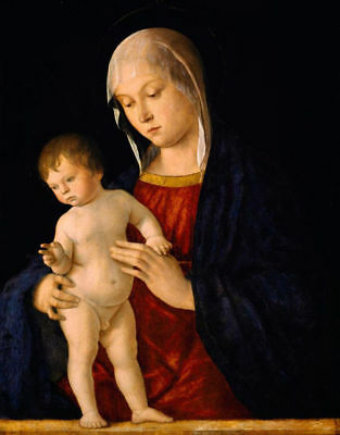 Handmade Oil Painting repro Giovanni Bellini the Virgin Mary Madonna with child