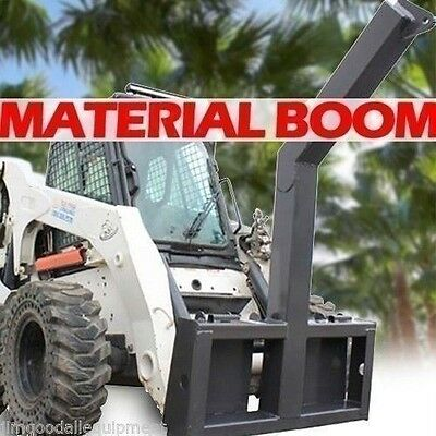 Material/Tree Boom Attachment for Skid Steers, Lift 10,000 Lbs! Fits All Brands