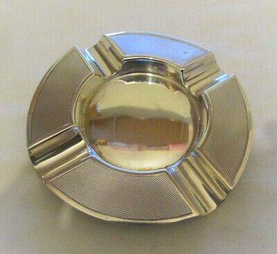 SOLID STERLING SILVER ASHTRAY MADE BY CHARLES S GREEN & Co BIRMINGHAM 1947