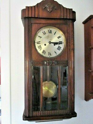 A HAC Oak Chiming 8 Day WAll Clock