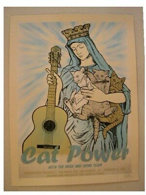 Cat Power SilkScreen Poster Signed and Numbered Two Rab