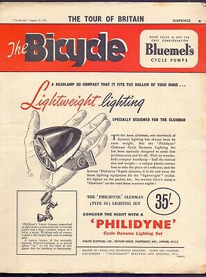Vintage Bicycle Magazine 15th August 1951 The Tour of Britain  (BB 2)