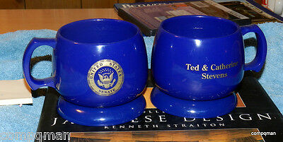 Catherine & Ted Stevens Senator Alaska U.s. Senate Coffee Cups & Coasters