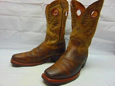 2d7fc8f81b1 ARIAT HERITAGE ROUGHSTOCK Square Toe Western Boots - Brown - Mens ...